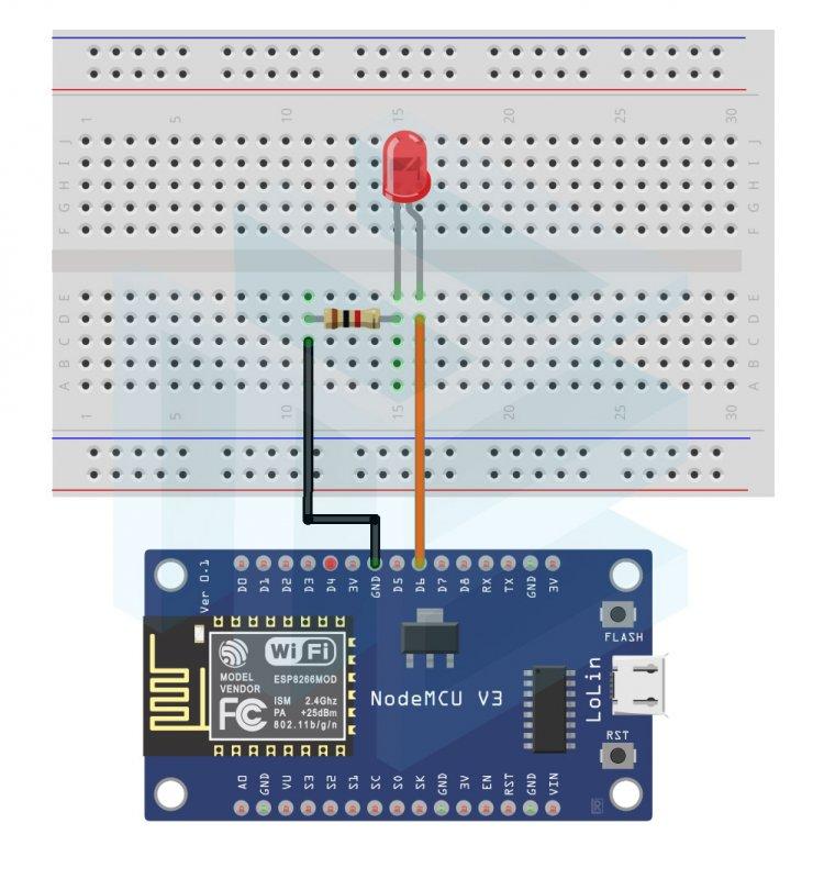 Nodemcu ESP8266 Kablosuz - HTML Arayüzü ile Led Yakıp - Söndürme