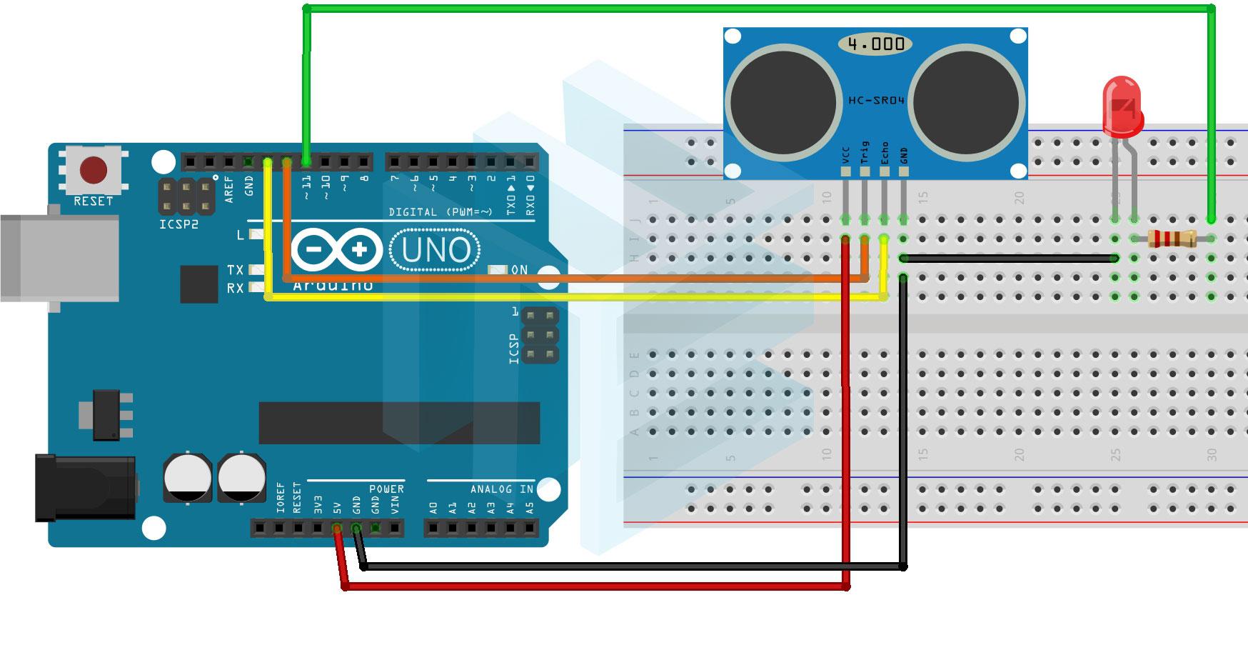 Ultrasonik Sensör ile Led Kullanımı